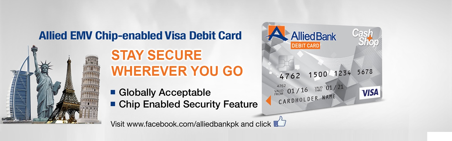 Allied Cash+Shop Visa Debit Card - Allied Bank Limited