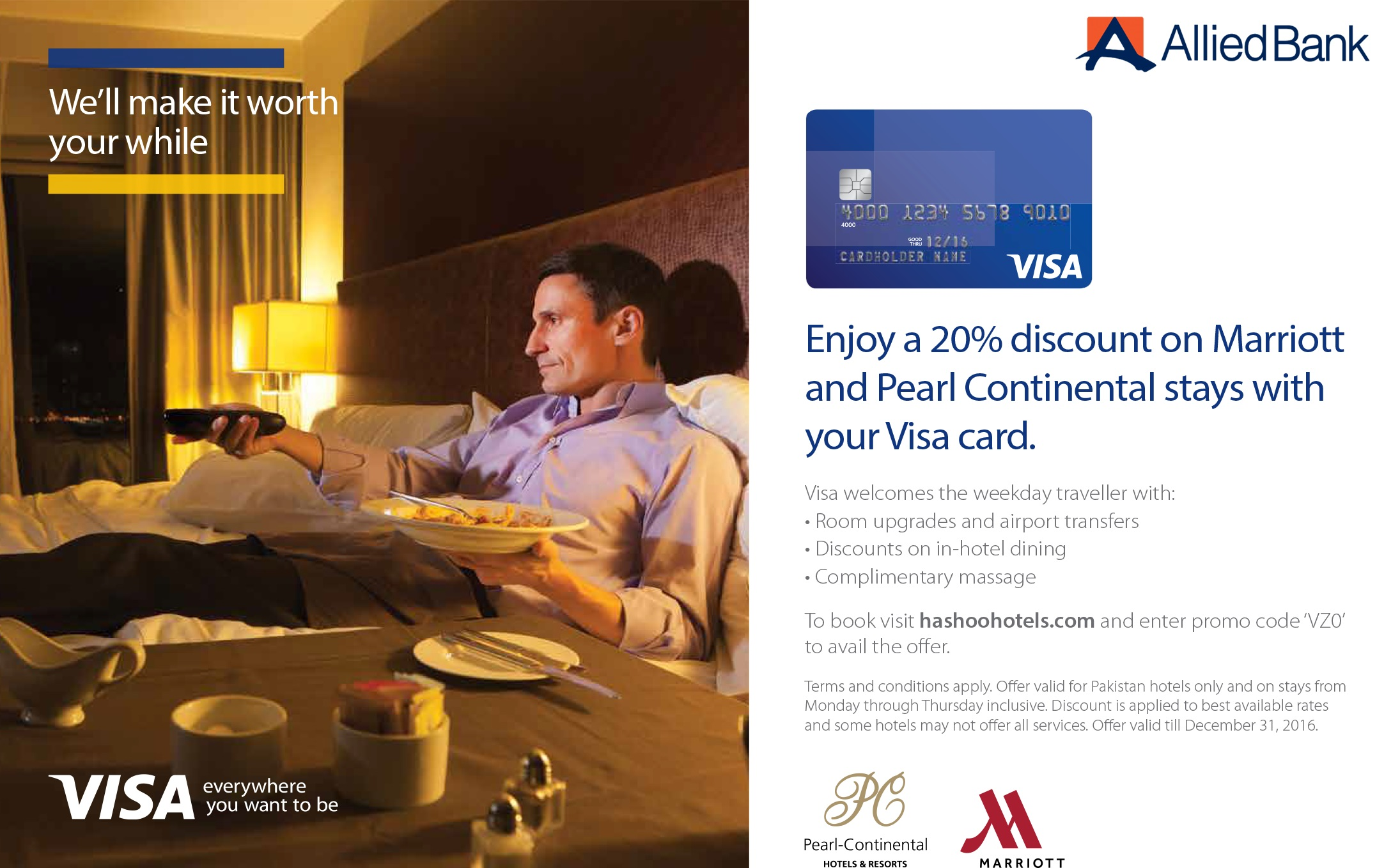 Discount Offers at Pearl Continental & Marriott Hotels in